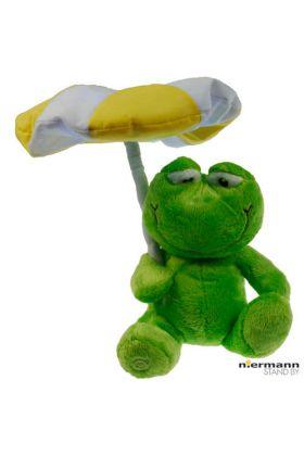 Niermann Knuffel kikker nachtlampje 80027 groen 31cm