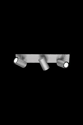 Trio 3 spot plafondlamp serie 8024 nikkel