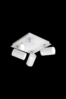 Trio 4 spot plafondlamp serie 8024 wit
