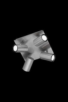 Trio 4 spot plafondlamp serie 8024 nikkel