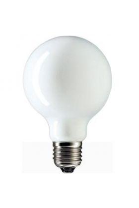 Globelamp Gloeilamp E27 230V 60W 80mm opaal