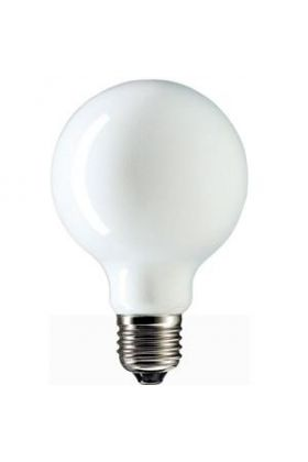 Globelamp Gloeilamp E27 230V 25W 80mm opaal