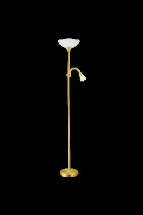 Eglo Up 2 vloerlamp Basic 82843 messing wit