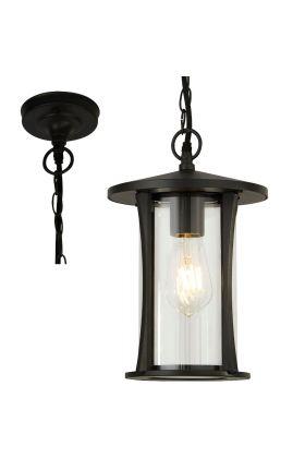 Hanglamp Pagoda 8476BK zwart 20cm