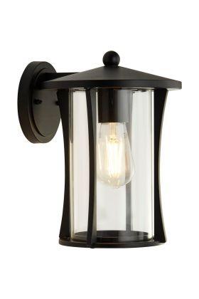 Wandlamp Pagoda 8477BK zwart 28cm