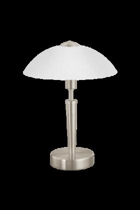 Eglo Solo 1 Tafellamp Basic 85104 nikkel wit