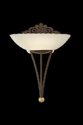Eglo Mestre wandlamp Traditional 86715 bruin wit