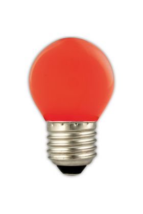 P45 E27 LED kogel 1w (15w) rood