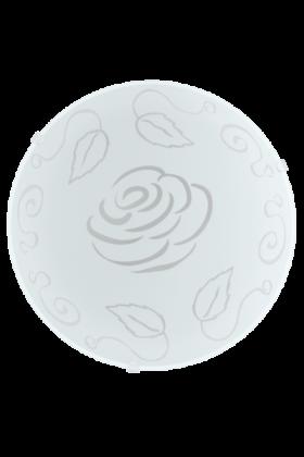 Eglo Mars 1 wandlamp Basic 89238 wit met rozen