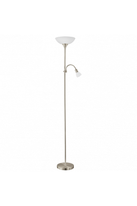 Eglo Up 5 vloerlamp Basic LED  93207 nikkel