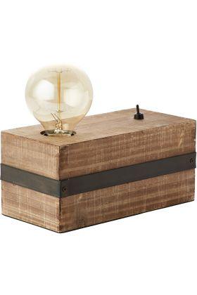 Tafellamp Woodhill 93722/76 hout 12cm