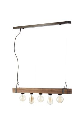 Hanglamp Woodhill 93725/76 hout 80cm