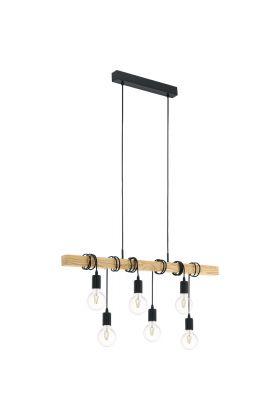 Eglo Townshend 95499 hanglamp bruin