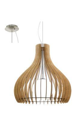 Eglo Tindori 96216 hanglamp hout