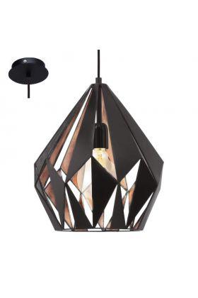 Eglo Carlton 49254 hanglamp koper