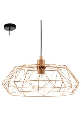 Eglo Carlton 49488 hanglamp koper