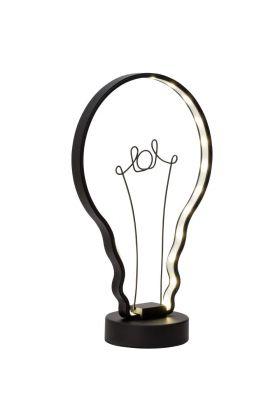 Brilliant Catrix G98967/06 tafellamp zwart