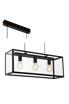 Eglo Charterhouse 49393 hanglamp zwart