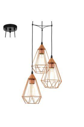 Eglo Tarbes 94196 hanglamp koper