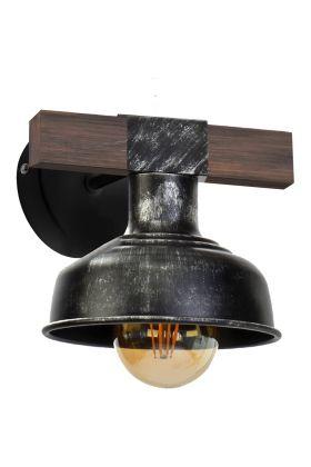 Wandlamp Faro zwart