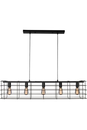 Hanglamp Squalo zwart 120cm