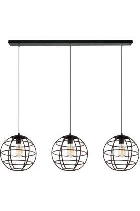 Hanglamp Pianeta H2833G zwartgoud 117cm