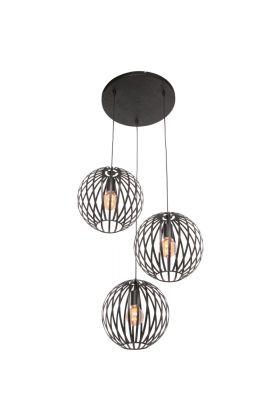 Freelight Tres H7733Z hanglamp zwart