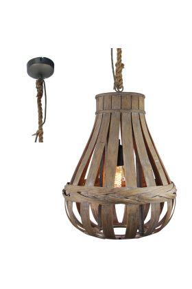 Brilliant Kaminika 93578/09 hanglamp bamboe