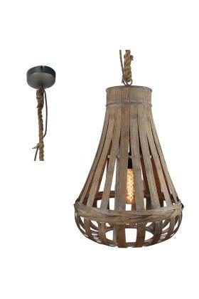 Brilliant Kaminika 93579/09 hanglamp bamboe