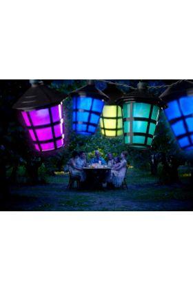 Konstsmide LED partysnoer 40 multicolor lantaarns 4164-500