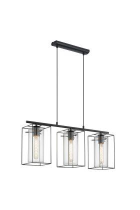 Eglo Loncino 49496 hanglamp zwart