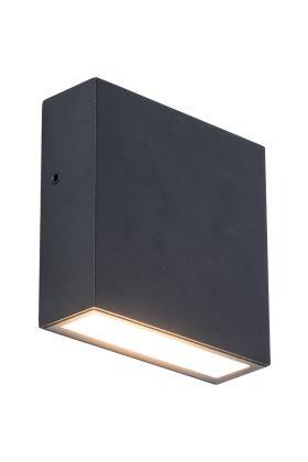 Wandlamp Gemini XF zwart 11cm