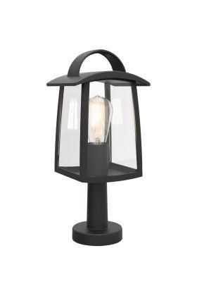 Sokkellamp Kelsey zwart 40cm