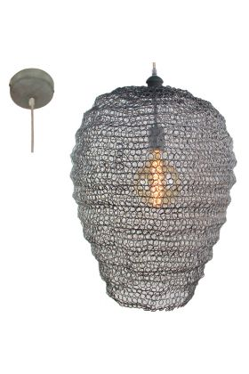 Brilliant Maze 93462/70 hanglamp beton