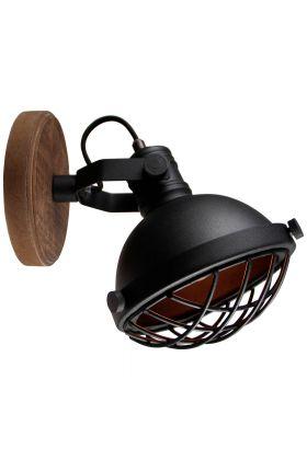 Brilliant Mila 99009/86 wandlamp zwart