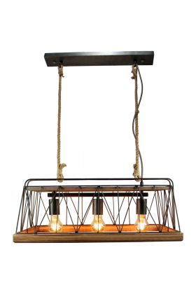 Brilliant Narcy 93587/71 hanglamp hout