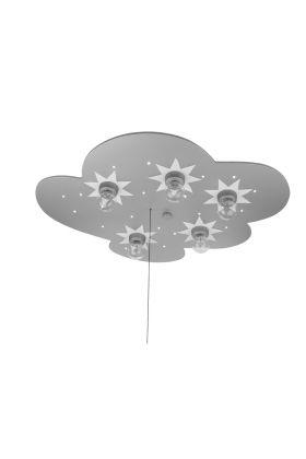 Niermann wolk 667 plafondlamp titanium