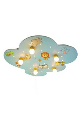 Niermann Wilde Dieren 658 plafondlamp licht blauw