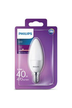 B35 E14 LED kaarslamp 5,5w (40w) fr 2700k