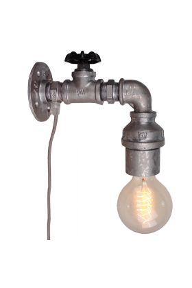 Brilliant Pipe 93707/43 wandlamp zink