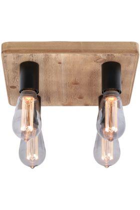 Plafondlamp Lenero PL2740Z hout 30cm