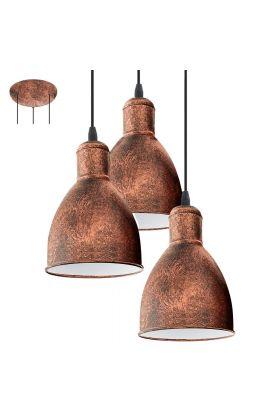 Eglo Priddy 49493 hanglamp koper