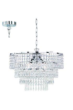 Trio Orient R13473006 hanglamp chroom