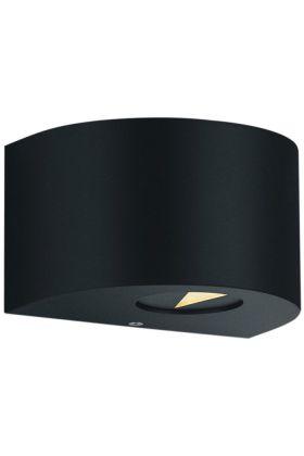Wandlamp Rosario zwart 15cm