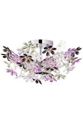 Trio Flower R60014017 plafonnière acryl