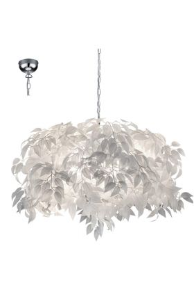 Trio Leavy R10464001 hanglamp wit