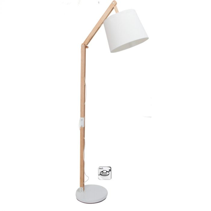 Brilliant Carlyn 09958A75 vloerlamp wit