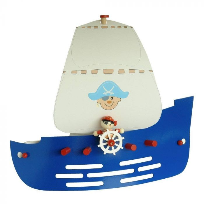 Wandlamp Piratenschip Jack blauw