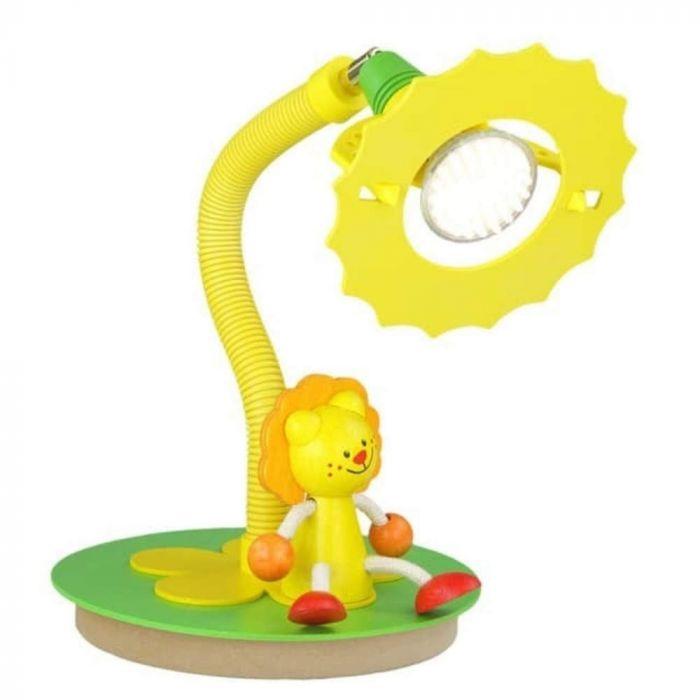Tafellamp Leeuw Geel