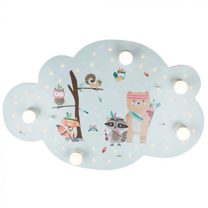 Plafondlamp Wolk Little Indians mint